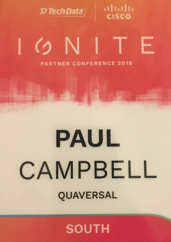 Quaversal honored to attend Cisco Tech Data Ignite!